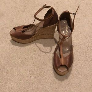 Brown leather Espadrilles from Spain!